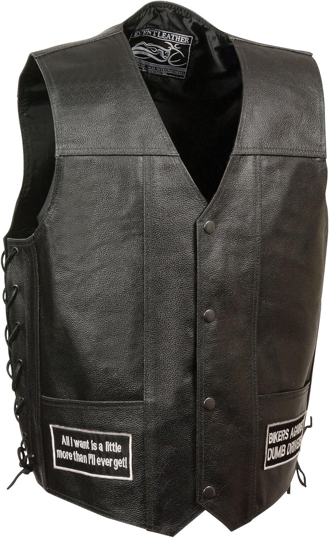 Event Leather Men's 8 Patches Vest