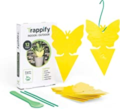 Trappify Sticky Fruit Fly and Gnat Trap Yellow Sticky Bug Traps for Indoor/Outdoor Use - Insect Catcher for...