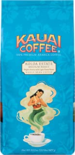 Kauai Whole Bean Coffee, Koloa Estate Medium Roast – 100% Premium Arabica Whole Bean Coffee from Hawaii's Largest Coffee Grower - Bright Aroma with Light Floral Notes (32 Ounces)