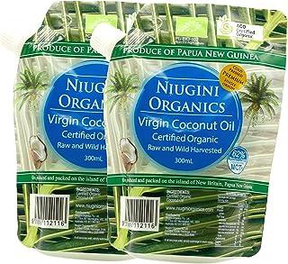 Niugini Organics Premium Virgin Coconut Oilニューギニ オーガニックス 有機JAS プレミアム バージンココナッツオイル《野生のココナッツを低温圧搾製法で100%生のココナッツオイルに!》 (300ml x2)