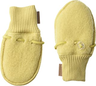 MIKK-Line - Melton Kids & Baby Ultra-Soft Merino Wool Adjustable Mittens with Toggle, Cocoon, 0-3 Months