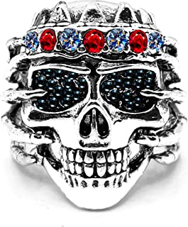 MYLYAHY Punk Rings for Men Alloy / Stainless Steel Rock Gothic Biker Punk Skull Rings Jewelry