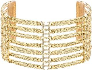 Steve Madden Women's Rhinestone Casted Chain Bracelet, 8.5 Inch - SMGB509115RH