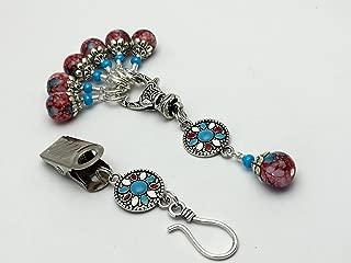 Western Mosaic Portuguese Knitters Pin & Snag Free Stitch Marker Set