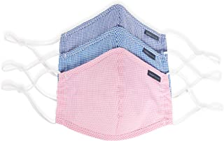 Perry Ellis Reusable Rounded Woven Fabric Face Masks (Pack of 3, Colors)