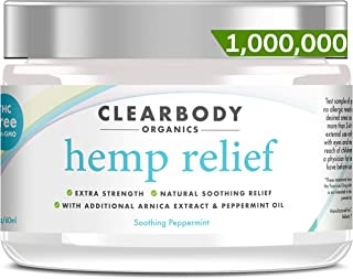 Hemp Pain Relief Cream- 1,000,000 Made in USA Lab Tested Hemp Oil Formula for Arthritis, Back, Knee, Joint, Nerve & Muscle Pain, Inflammation with Natural Peppermint Oil, Arnica Extract & Aloe 2oz