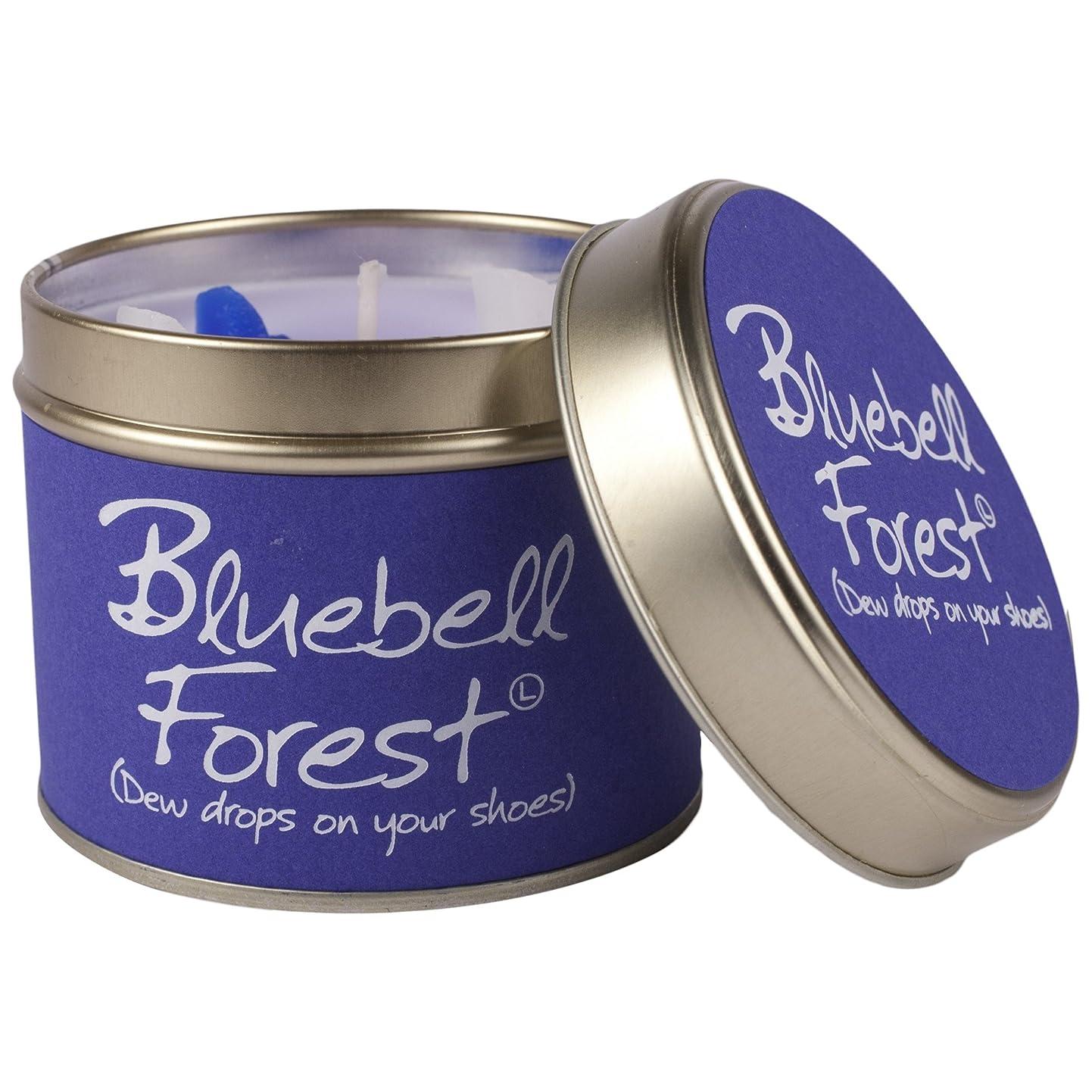 小さい皮カプセルLily- Flame Scented Candle in a Tin Bluebell Forest (Pack of 6) - スズブルーベルの森でLily-炎香りのキャンドル (Lily-Flame) (x6) [並行輸入品]