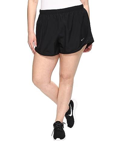 Nike Dry Tempo 3 Running Short (Size 1X-3X) (Black/Black/Black/Wolf Grey) Women