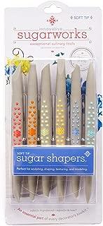 Innovative Sugarworks Sugar Shapers Fondant Cake Decorating Unique Tools, for Sugarcraft, Gum Paste, Modeling Chocolate (Pack of 6), Soft Tip, Regular