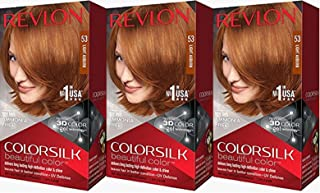Revlon Colorsilk Beautiful Color, Light Auburn, 3 Count