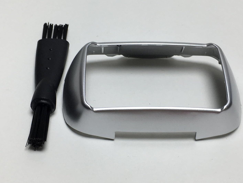 批判する前部作物シェービングカミソリヘッドフレームホルダーカバー For Panasonic Arc5 ES-ELV9 ES-LV94 ES-LV96 ES-LV96-S ES-CLV96 ES-LV95 ES-LV95-S ES-LV9A-S ES-LV9B-S メンズ シェーバー Shaver Razor Head Frame Holder Cover シルバー