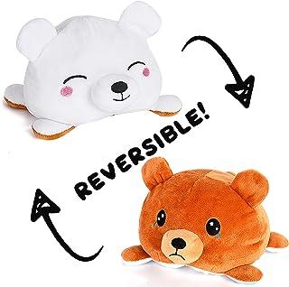 Reversible Plushie Bear Octopus Plush Stuffed Animal Mood Flip Reversable Toy Octupus Reversed Plushies Happy Sad Angry Sq...