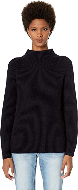 Button Sleeve Funnel Neck