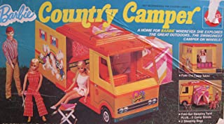 Barbie COUNTRY CAMPER Playset w Fold Out SLEEPING TENT & MORE! (1970 Mattel Hawthorne)