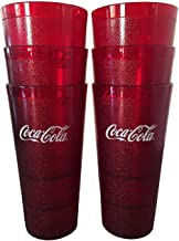 Coca-Cola Cups, Red Plastic Tumbler 24-Ounce Restaurant Grade, Carlisle, Set of 6
