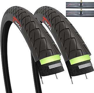 comprar comparacion Fincci Par de Neumáticos para Bicicleta Híbrida Cubiertas con 2.5mm Anti Pinchazo 26 x 1,95 53-559 Schrader Tubos Interiores