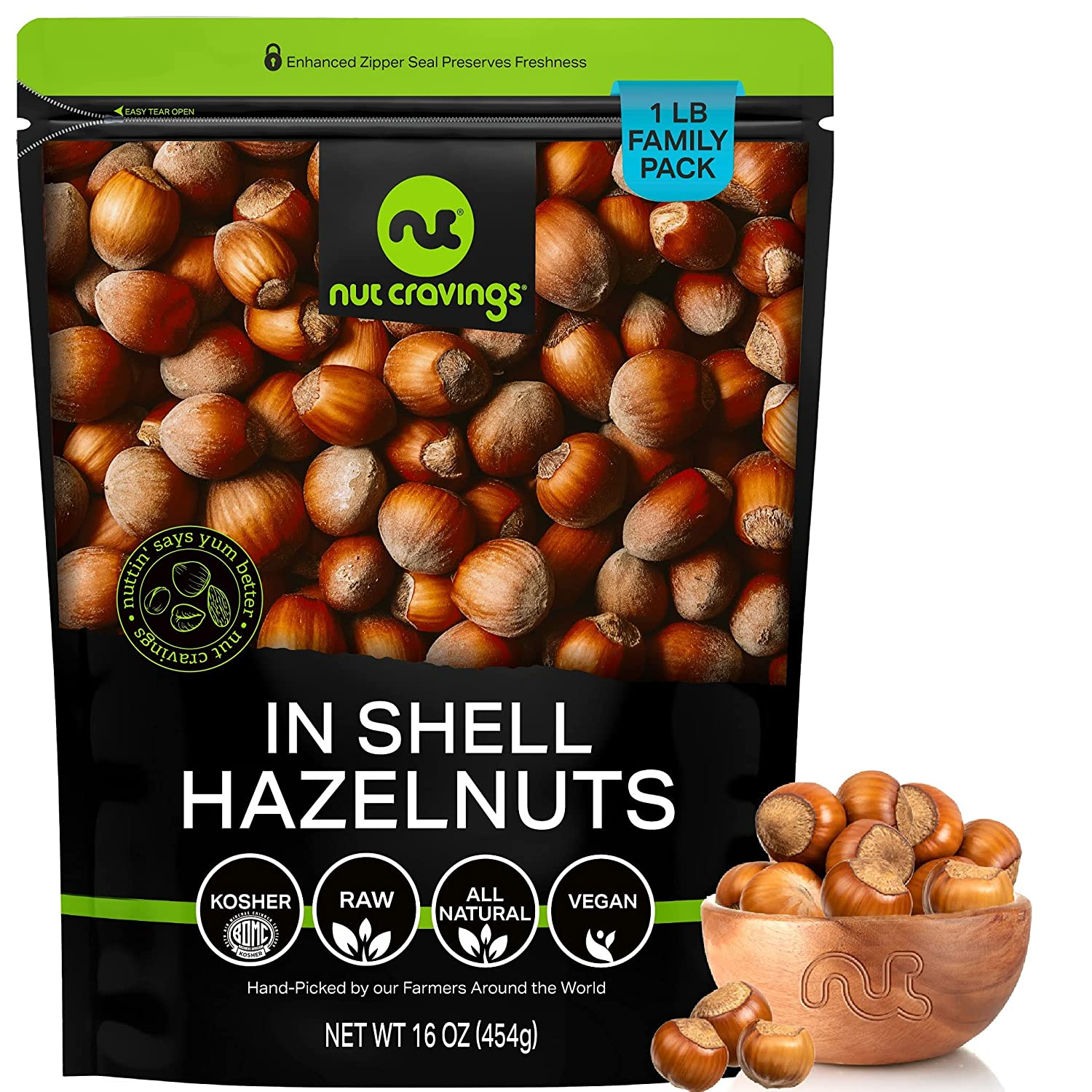 Raw Hazelnuts Filberts with Skin Max 73% OFF In Packed 16oz LB Shell 1 Popular -