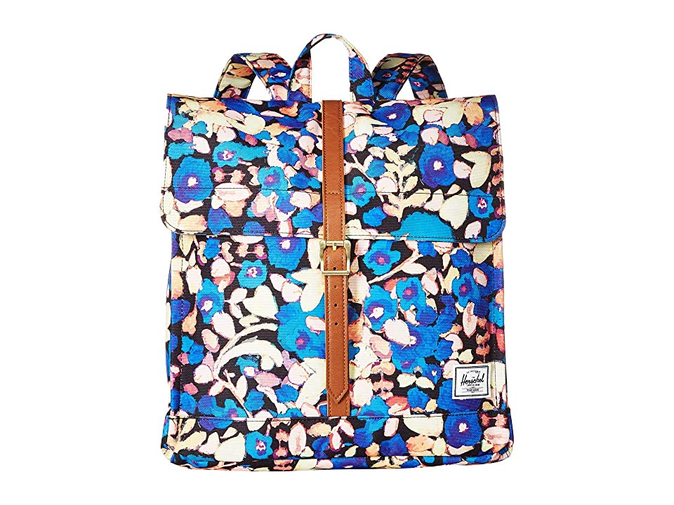 Herschel Supply Co. City Mid-Volume (Painted Floral/Tan Synthetic Leather) Backpack Bags