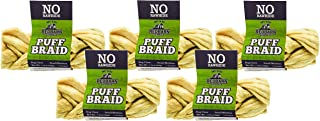 REDBARN Pet Products 5 Pack of Puff Braids, Small, Beef Esophagus Dog Chews