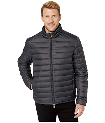 Save the Duck Giga 9 Puffer Jacket with Faux Sherpa Lining (Black) Men