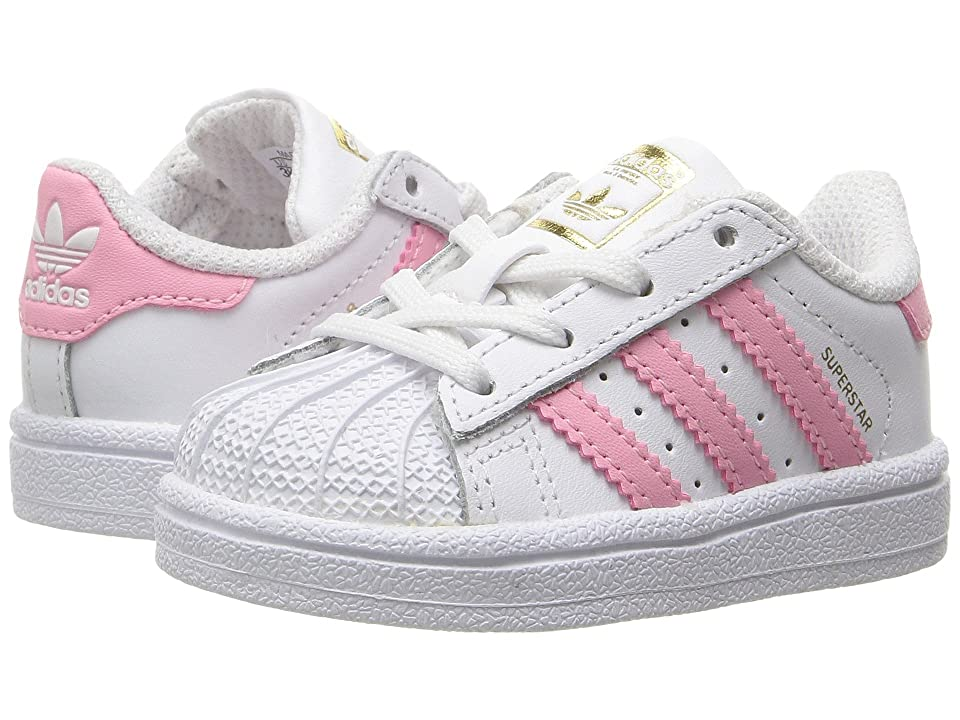 adidas Originals Kids Superstar (Infant/Toddler) (White/Pink) Girls Shoes