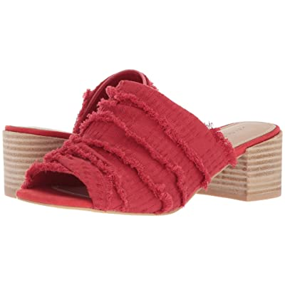 Kelsi Dagger Brooklyn Seigel Slide (Red Leather/Denim) Women