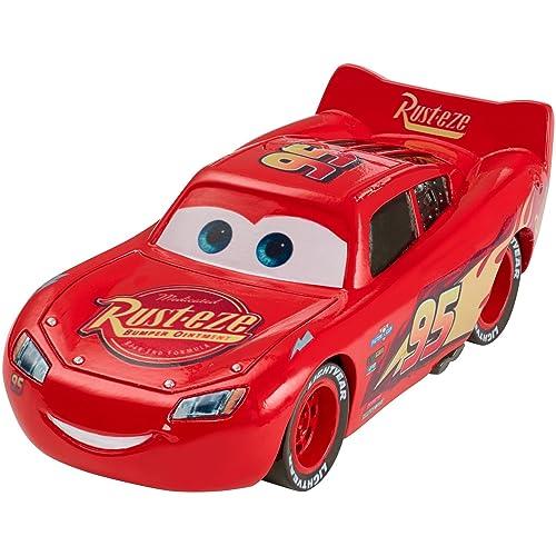 Disney Pixar Cars petite voiture Flash McQueen rouge, jouet pour enfant, DXV32