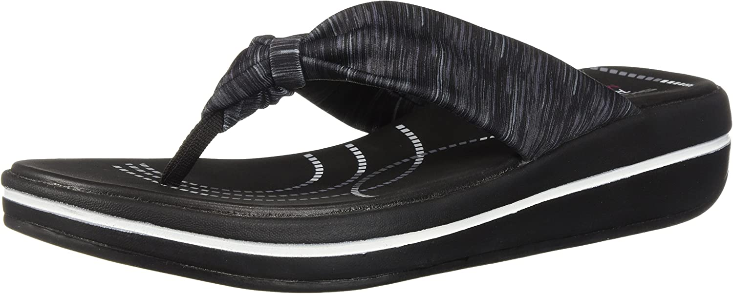 Skechers Women's Upgrades-Spaces-Heathered Scarf Thong Flip-Flop