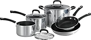 Tramontina 80132/031DS Style Aluminum Non-stick Polished Cookware Set, 8 Piece, Made in USA