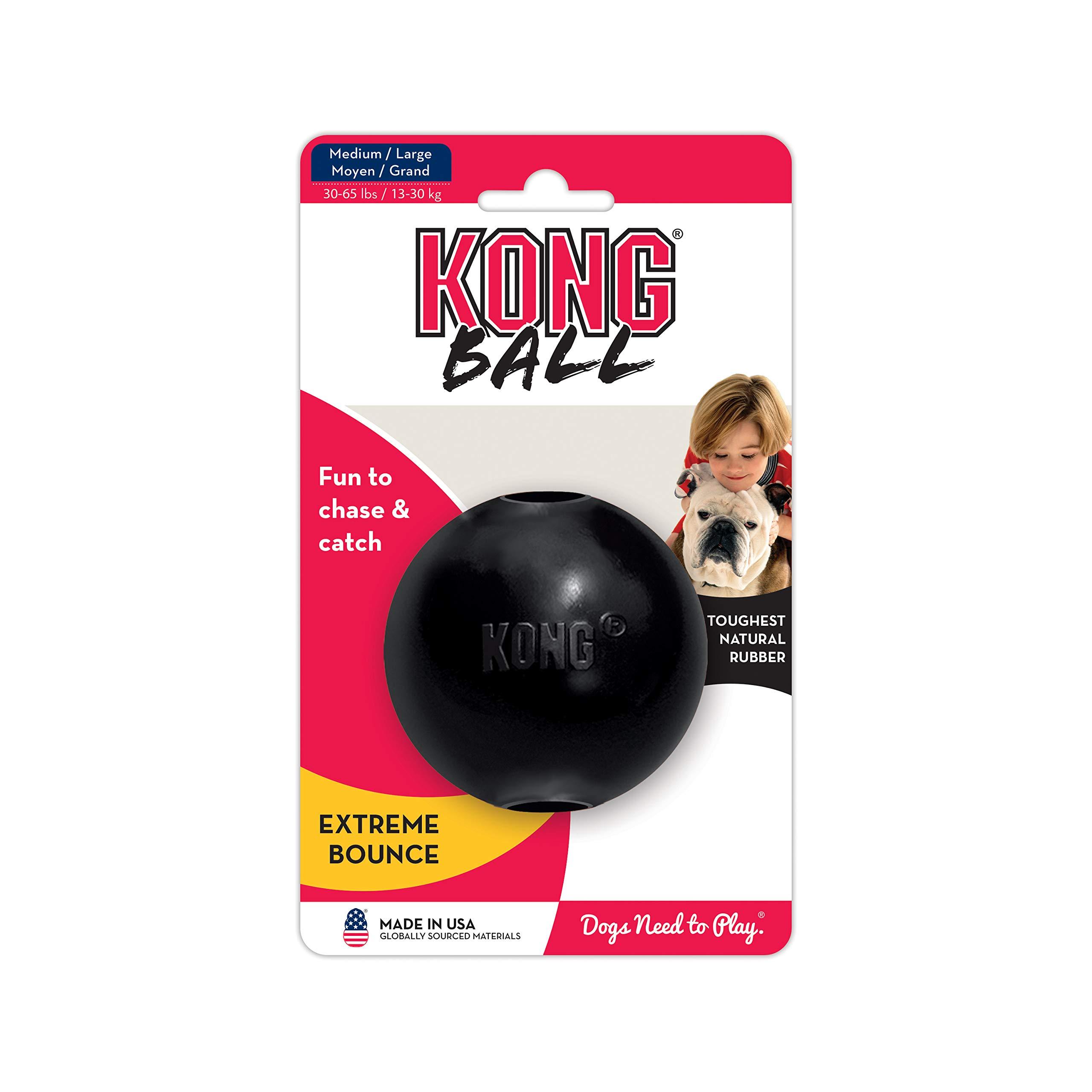KONG - Extreme Ball - Juguete de caucho para mandíbulas potentes ...