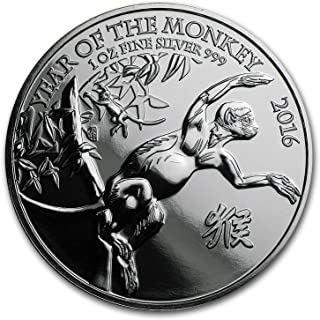 year of the monkey 2016 silver coin