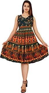 NARSINH Women's Knee Length Dress (n/p frock_Blue_Free Size)
