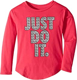 Crystal Just Do It Modern Long Sleeve Tee (Little Kids)