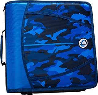 Case-It D-386-P Zipper Binder 3 inch capacity, Shark Camo Blue