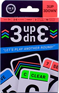 3UP 3DOWN Card Game | Best Fun Family Games for Kids, Teens, Adults | 2-6 Players/Deck ● Up to 12 Players with 2 Decks ● M...