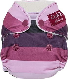 GroVia Newborn All in One Snap Reusable Cloth Diaper (AIO) (Sugar Rush)
