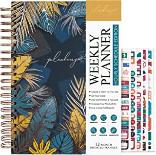 $27 » Sponsored Ad - PLANBERRY Weekly Schedule Planner Large – 8″ x 10.4″ Elegant Hourly Schedule & Budget Planner for Time Mana...