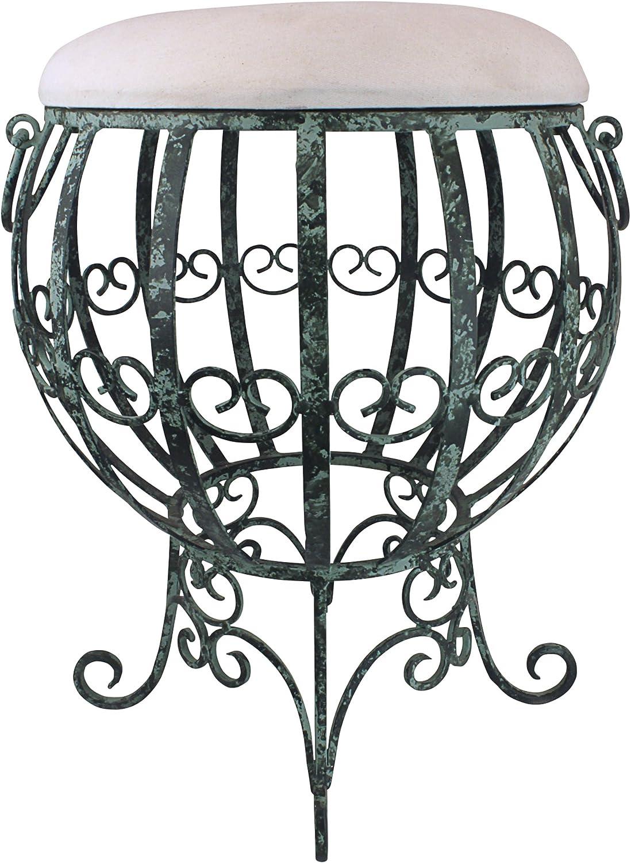 Design Toscano FU52425 Le Geant Des Airs Metal Vanity Stool