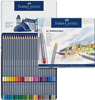Faber-Castell Goldfaber Aqua Watercolour Pencils Tin of 48, (18-114648)