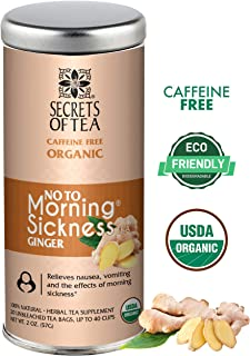 No To Morning Sickness Pregnancy Tea- Certified USDA Organic- No Caffeine- 20 Sachets- Morning Sickness Relief,Nausea...