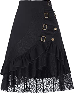 Women's Steampunk Gothic Vintage Victorian Gypsy Hippie Party Skirt