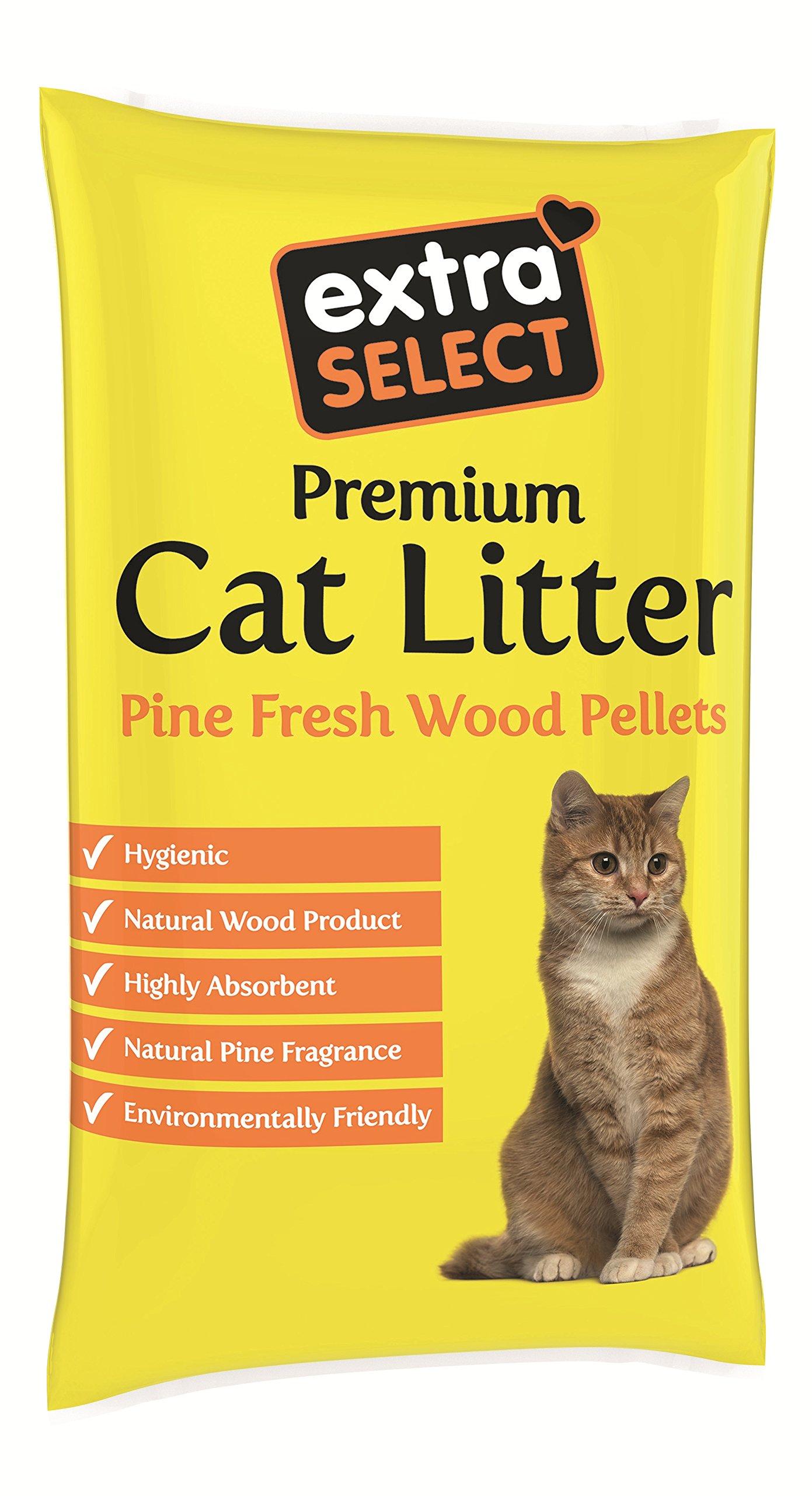 Extra Select Premium Wood Based Cat Litter 30 L Amazon Co Uk Pet Supplies