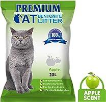 بريميم رمل لفضلات القطط 20 لتر طبيعي وقابل للتحلل, رائحة تفاح