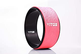 Vitos Fitness Yoga Wheel Roller | for Extreme Yoga Pose, Stretching and Improving Back Bend Deepen Practice Release Tight ...