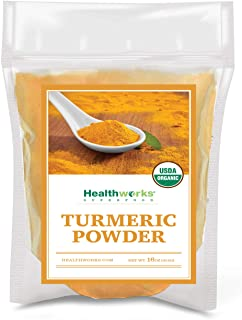 Healthworks Turmeric Powder (16 Ounces / 1 Pound) | Ground Raw Organic | Curcumin & Antioxidants | Keto, Paleo, Vegan, Non...