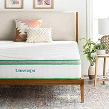 LINENSPA 10 Inch Latex Hybrid Mattress - Supportive - Responsive Feel - Medium Firm - Temperature Neutral - Queen