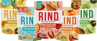 RIND Snacks Dried Fruit Superfood Variety Pack with Tangy Kiwi, Straw-Peary, Coco-Melon, Orchard Blend, Tro...
