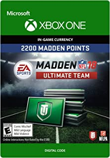 Madden 18 - 2200 Ultimate Team Points - Xbox One [Digital Code]