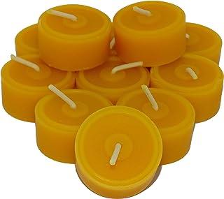 108 Teelichter aus reinem Bienenwachs Sparpack Nachfüllpack Bienenwachsteelichter 0,65€/St.