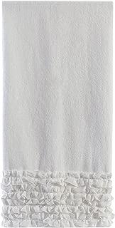 white ruffle bath towels